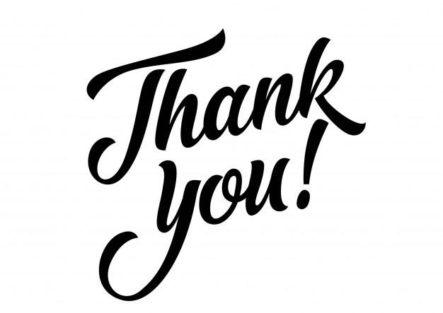 estado de gratitud: thank you vector